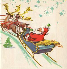 vintage christmas clip art   Free Vintage Clip Art Christmas Post Cards And Santa Claus
