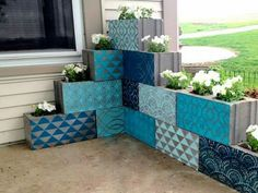 Nice way to decorate cinder blocks?