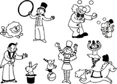 Aladine Stampominos, Circus Themed Foam Stamps, Set of 10 Plus 1 Extra Large Ink Pad