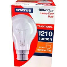 100 Watt GLS HD BC Clear Bulbs
