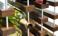 Zero-G Suspended Wine System is inspired by minimalism
