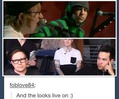 Pete's Bitchface  #Pete and Patrick #Fall Out Boy