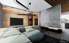 modern living room mint sofa