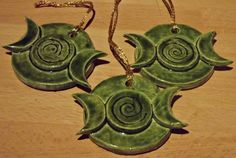 Wiccan Yule Tree   Triple Moon - Green                                                                                                                                                                                 More