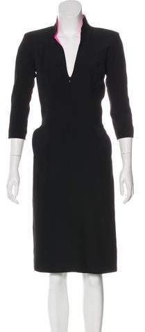Alexander McQueen Crepe Sheath Dress