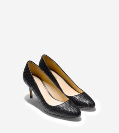 Gorgeous black pump which looks like a bottega veneta shoe but at much lower price point. from cole haan