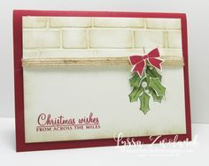 Love this card from Lyssa Zwolanek using the Holly Berry Happiness stamp set and coordinating punch.