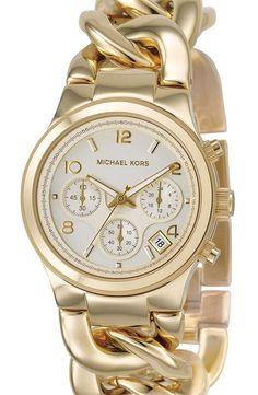 Michael Kors Chain Watch  #bijoux, #bijouxfantaisiefemme, #montresfantaisies, #montresfemme