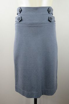 Size S 10 Review Ladies Grey Skirt High Waist Chic Office Corporate Business Cocktail Pencil Design
