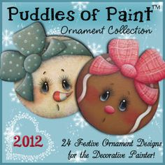 10 Ornament Collection 2012 - Click Image to Close Gingerbread Ornaments, Gingerbread Decorations, Painted Christmas Ornaments, Ornaments Design, Christmas Rock, Christmas Projects, Pintura Country, Light Bulb Crafts, Cd Crafts