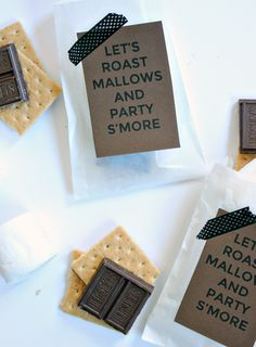 So cute. Especially since there will be a s'mores bar at our wedding. We can make a sign with that saying on it.