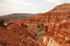 1. Palo Duro Canyon in Amarillo, Texas. It's the second largest canyon in the U.S., only topped by the Grand Canyon. .