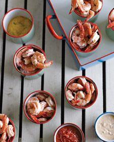 Shrimp Cocktail with Three Sauces Recipe