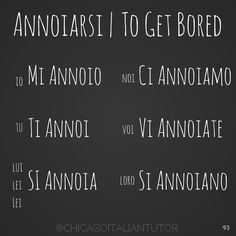 annoiarsi | to get bored {day 93} #annoiarsi #togetbored #parliamoitaliano…