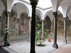 Oratorio di San Pierino - Firenze - Chiostro - affreschi di Berna-rdino Poccetti - Bernardino Monaldi - Giovanni Balducci - Andrea Boscoli - Cosimo Gheri - 1588-1590