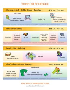 planning activities weekly schedule and website - Website For 2 Year Olds