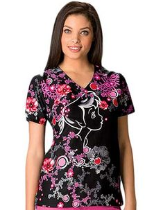 Tooniforms Women Tinker Bell Dream Nurse Scrub Top