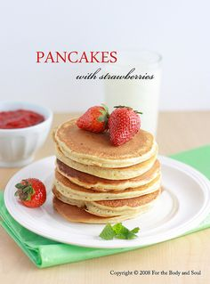 Peanut butter pancakes, Whole wheat pancakes and Pancakes on Pinterest