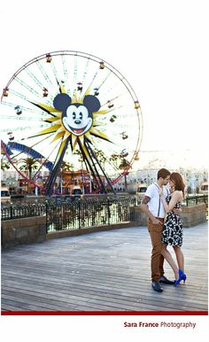 DISNEY ENGAGEMENT PHOTO-- Perfect since I've got engaged in this same area!!!