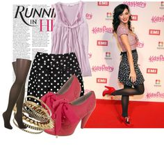 """""""Katy perry in polka dotted skirt"""" by rosa-belle ❤ liked on Polyvore"""