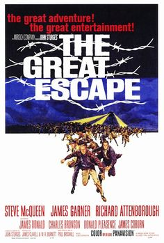 The Great Escape - a really well done movie based on a true story of POWs trying to escape from a German camp during WWII.