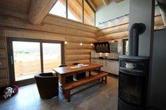 Wunderschöne Ansicht Meiner Küche! Ein Naturstammhaus Im Harz. Blockhaus,  Holzhaus