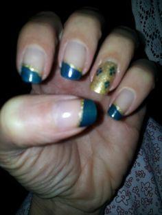 Blue&golden. ..