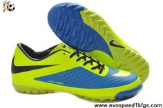 Cheap Yellow Blue Nike Hypervenom TF On Sale