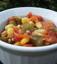 Okra, Corn, and Tomatoes