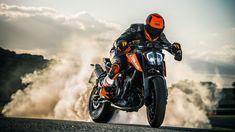 Last bakgrunnsbilder drift, røyk, 2018 sykler, superbikes, ktm Ktm Duke, Duke Bike, White Motorcycle, Motorcycle Racers, Motorcycle News, Bike Drift, Body, Ktm Motorcycles, Yamaha Fz