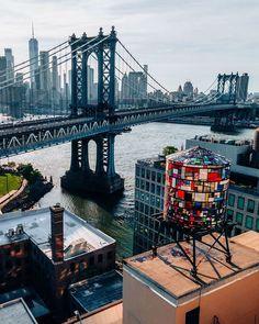 Manhattan Bridge, Brooklyn Bridge, Visit New York City, New York Architecture, One World Trade Center, New York Homes, Nyc Life, City Aesthetic, Dream City