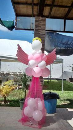 globos angel bautizo Baby Baptism, Baptism Party, Christening, Baptism Decorations, Balloon Decorations, Angel Theme, Balloon Crafts, Art Party, Projects To Try