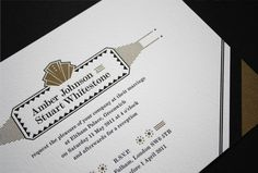 eva slade art deco invitations
