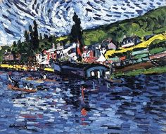 Regatta at Bougival, Maurice de Vlaminck, 1905