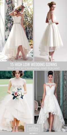 Top 18 High Low Wedding Dresses ❤ For brides who can't decide between long and short dress, we offer the collection of high low wedding dresses. Here you find sweetheart, lace, long&cap sleeves wedding dresses. See more: http://www.weddingforward.com/high-low-wedding-dresses/ #wedding #dresses