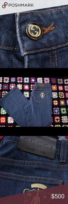 GUCCI wide leg jeans, size 44 Authentic Gucci Jeans, Brand new no tags. Gucci Jeans Flare & Wide Leg