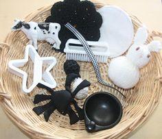 Counting Coconuts: Treasure Basket: Black & White