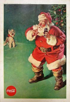 1961 Coca Cola Vintage Advertisement Christmas Wall Art Santa Claus Kitchen Decor Original Magazine Print Ad Holiday Paper Ephemera by RelicEclectic on Etsy