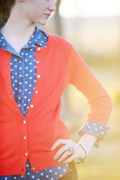 Polka dots...red,white and blue!
