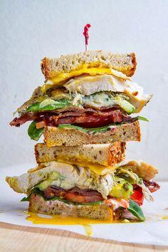 Leftovers Recipe: Roast Turkey Cobb Sandwich // use gf bread