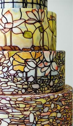Amazing stained glass cake