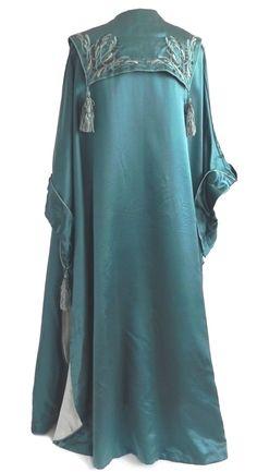 Liberty & Company Silk Opera Coat, back.(Edwardian, Arts & Crafts Movement)