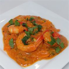 Prawns in Coconut Sauce