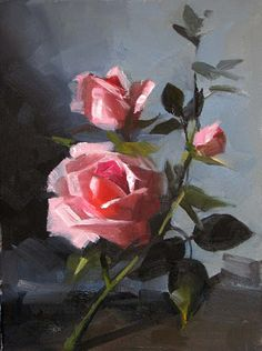 Rose Poetry, 12 x 12 Well, I have been away and busy catching up, and am just getting to posting the rose painting that I mentioned last ti. Acrylic Flowers, Acrylic Art, Oil Painting Flowers, Rose Paintings, Rose Art, Arte Floral, Pastel Art, Flower Wallpaper, Beautiful Roses