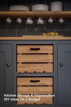 DIY Kitchen Organization & Storage ideas for Small Kitchens #kitchenhacks #organization