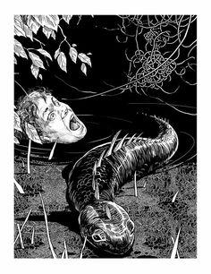 illustration to Anna Kirillova's novel «Big Height»