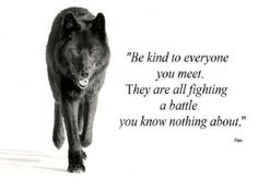 Be Kind - animal, fantasy, wolf, abstract, plato