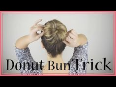 BEST EVER trick to Donut Bun long hair. (No leftover hair!) - YouTube