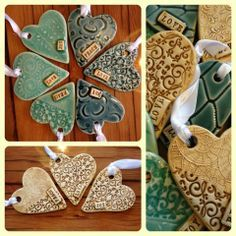 New heart ornaments from Kinnakeet Clay Works!
