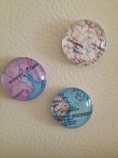 DIY Glass Magnets. I'm going to do the places that we have been.